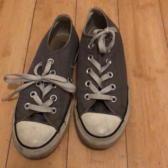Size 4 Grey Converse | Poshmark